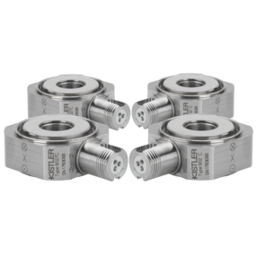 Dynamometer Kit: Set of 4 Triaxial Ring Force Transducers, Fx, Fy, Fz (Fz up to ±8 kN / ±1.79 klbf) 9026C4