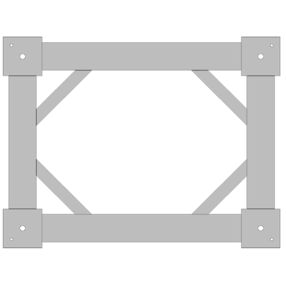 Mounting Frame for Force Plate in Biomechanics  9423