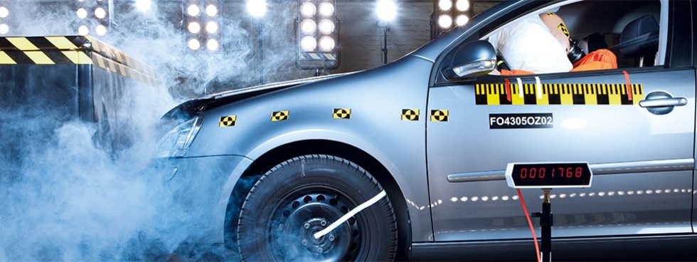 Vehicle Crash Testing und Instrumentierung