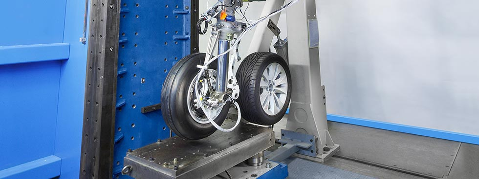 Aircraft landing gear and brake testing