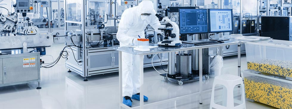 In medical device production, some assembly steps are performed in the cleanroom only.