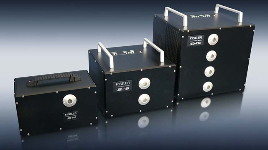 Illumination units in the LED-P series from Kistler provide support for optical combustion analysis.